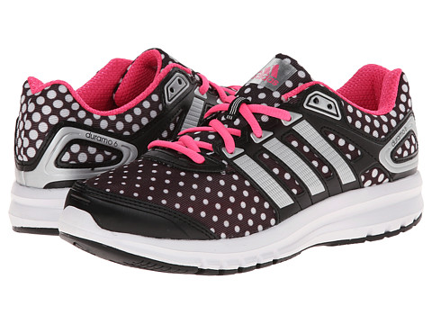 adidas Kids - Duramo 6 K (Little Kid/Big Kid) (Black Polka Dot) Girls Shoes