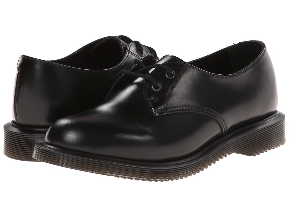 Dr. Martens Brook 2-Eye (Black Polished Smooth) Women