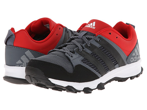 adidas Kids - Kanadia 7 TR K (Little Kid/Big Kid) (Grey/Black/Red) Boys Shoes