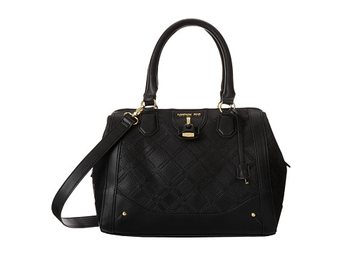 London Fog Lark Satchel (Black) Satchel Handbags