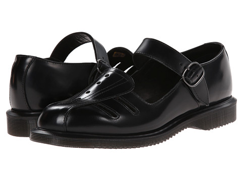 Dr. Martens - Deardra Low Cut Mary Jane (Black Polished Smooth) Women's Maryjane Shoes