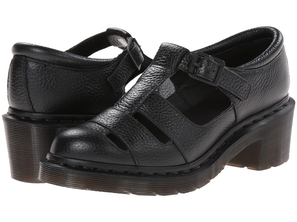 Dr. Martens - Baby Open T-Bar (Black Montreal Lux) Women