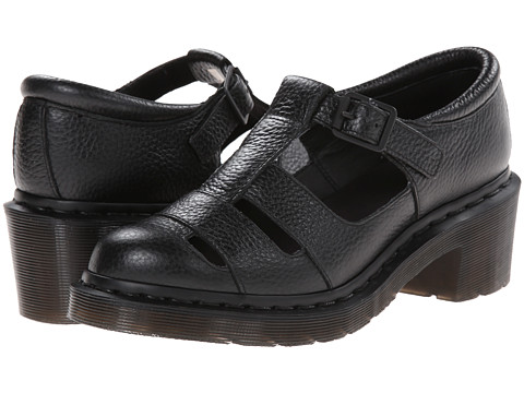 Dr. Martens - Baby Open T-Bar (Black Montreal Lux) Women's Shoes