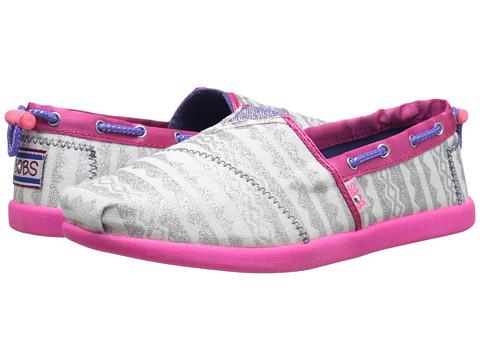 SKECHERS KIDS - Lil Bobs Bobs World 85139L (Infant/Toddler/Little Kid/Big Kid) (White/Silver/Pink) Girls Shoes
