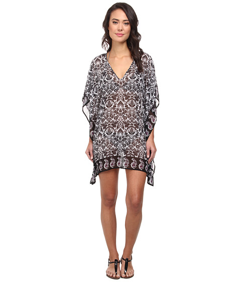Tommy Bahama - Vintage Paisley Tunic Cover-Up (Black/Cave Multi) Women