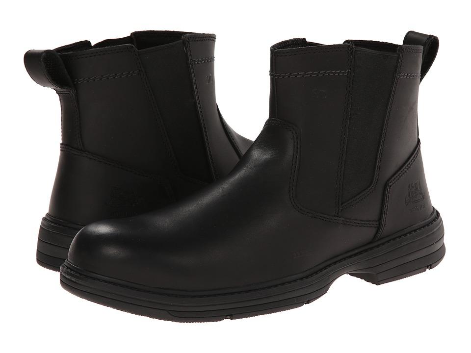 Caterpillar - Inherit Pull On Steel Toe (Black) Men's Work Pull-on Boots