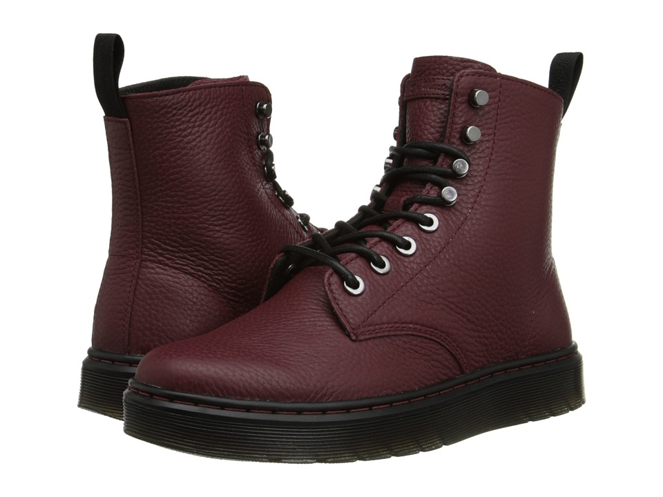 Dr. Martens - Disc 8-Tie Boot (Oxblood Montreal Lux) Women's Lace-up Boots