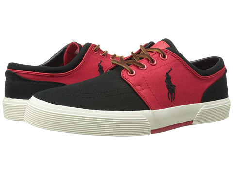 Polo Ralph Lauren - Faxon Low (RL2000 Red/Polo Black/Canvas) Men's Lace up casual Shoes