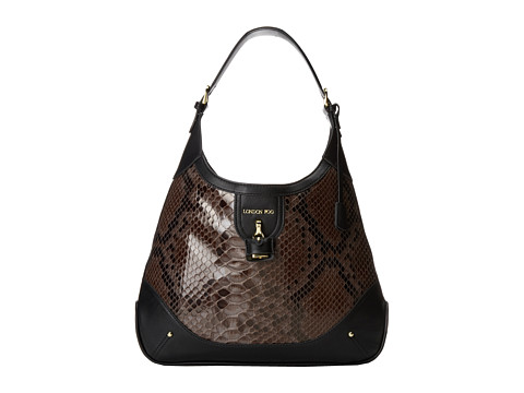 London Fog - Lilah Hobo (Slate Snake) Hobo Handbags