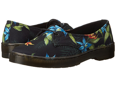 Dr. Martens - Morada 1-Eye (Black Hawaiian Floral T Canvas) Women