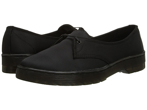 Dr. Martens - Morada 1-Eye (Black Satin) Women's Lace up casual Shoes