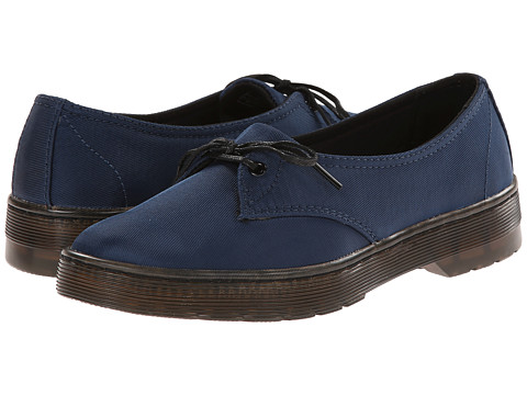 Dr. Martens - Morada 1-Eye (Blue Satin) Women's Lace up casual Shoes