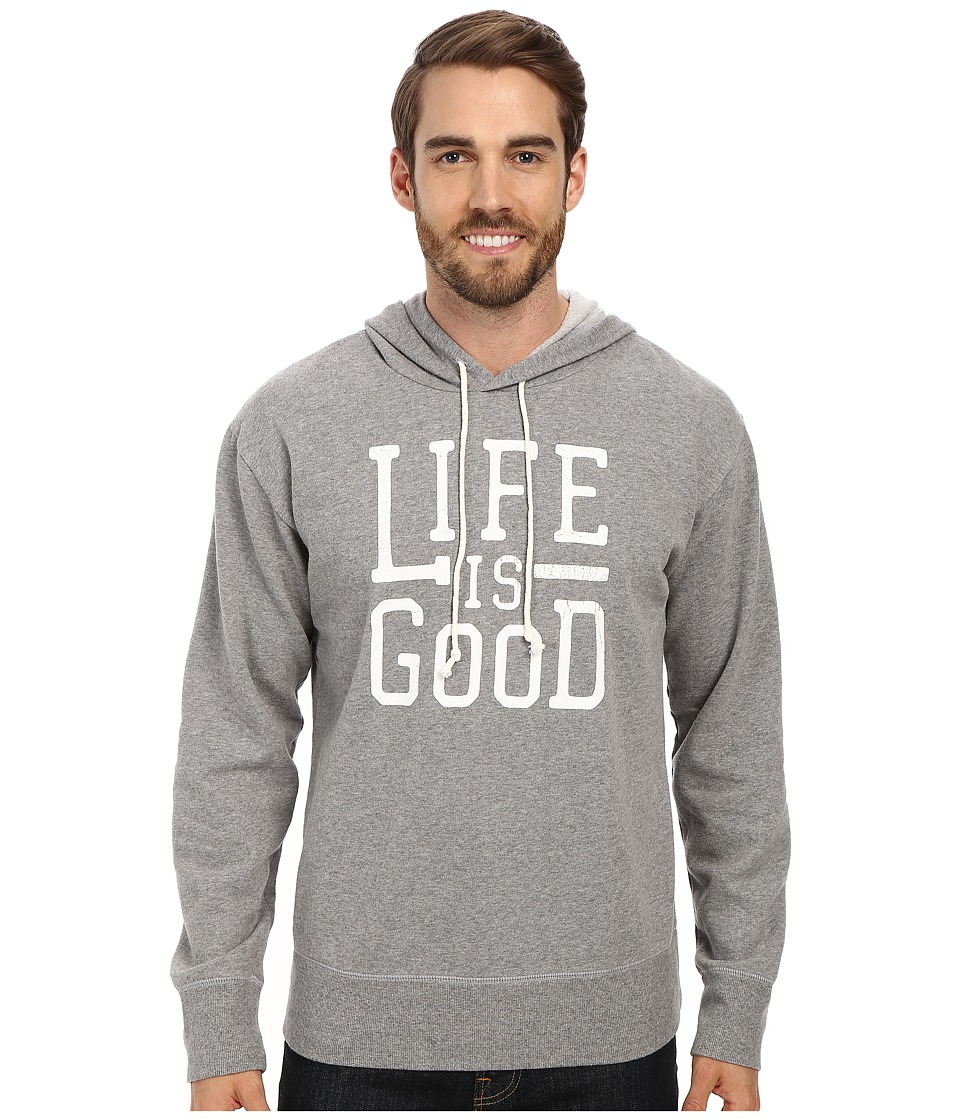 Life is good - Go-To Hoodie (Heather Grey) Men's Sweatshirt