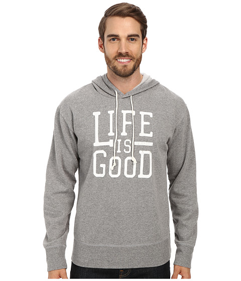 Life is good - Go-To Hoodie (Heather Grey) Men