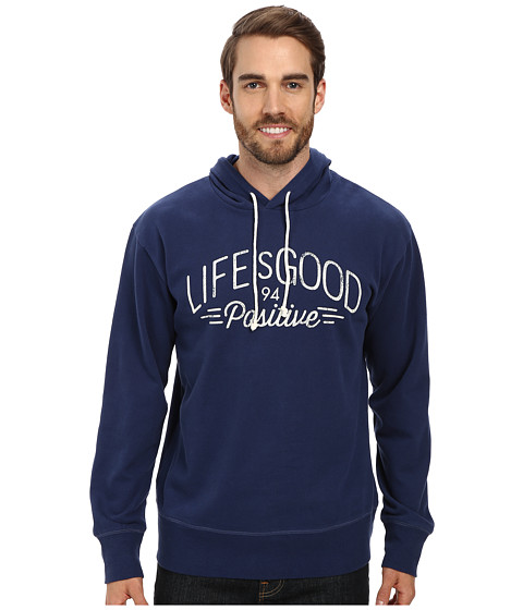 Life is good - Go-To Hoodie (Darkest Blue) Men's Sweatshirt