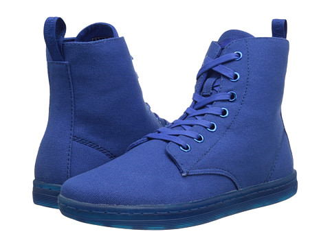Dr. Martens - Hackney 7-Eye Boot (Blue Canvas) Women's Lace-up Boots