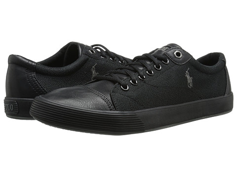 Polo Ralph Lauren - Klinger (Polo Black/Pebbled Canvas) Men's Lace up casual Shoes
