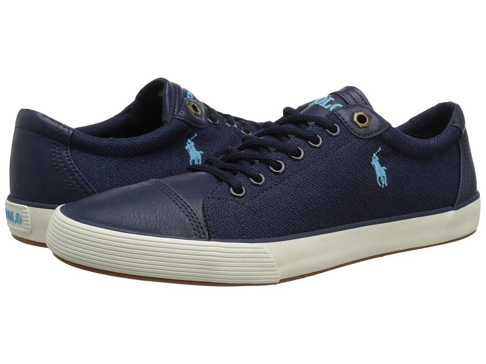 Polo Ralph Lauren - Klinger (Newport Navy Pebbled Canvas) Men's Lace up casual Shoes