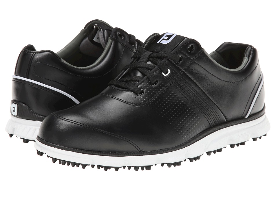 FootJoy - DryJoys Tour Casual (Black/White) Men's Golf Shoes