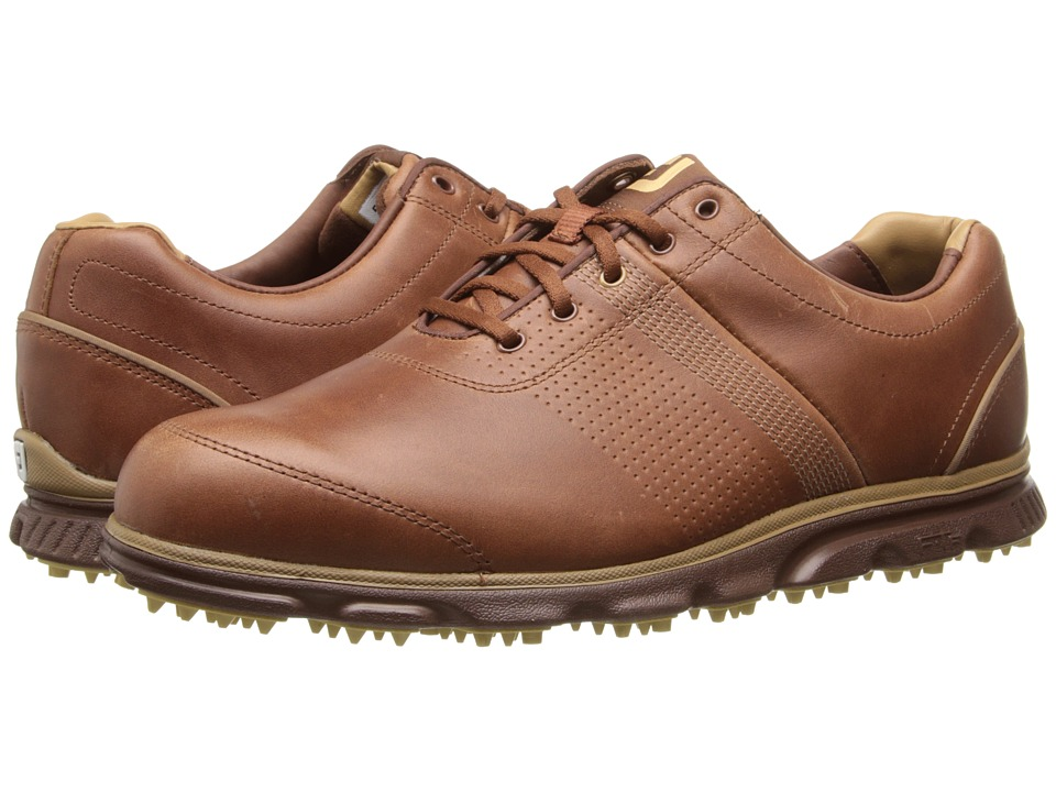FootJoy - DryJoys Tour Casual (Brown/TP Trim) Men's Golf Shoes