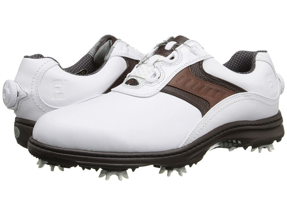 FootJoy - Contour Series (White/Dark Brown SP15) Men's Golf Shoes