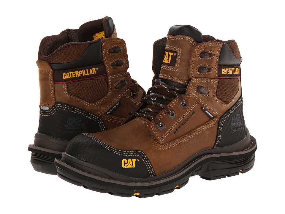 Caterpillar - Fabricate 6 Tough WP CT (Dark Beige) Men's Lace-up Boots