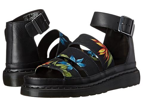 Dr. Martens - Clarissa Chunky Strap Sandal (Black Hawaiian Floral T Canvas/Brando) Women
