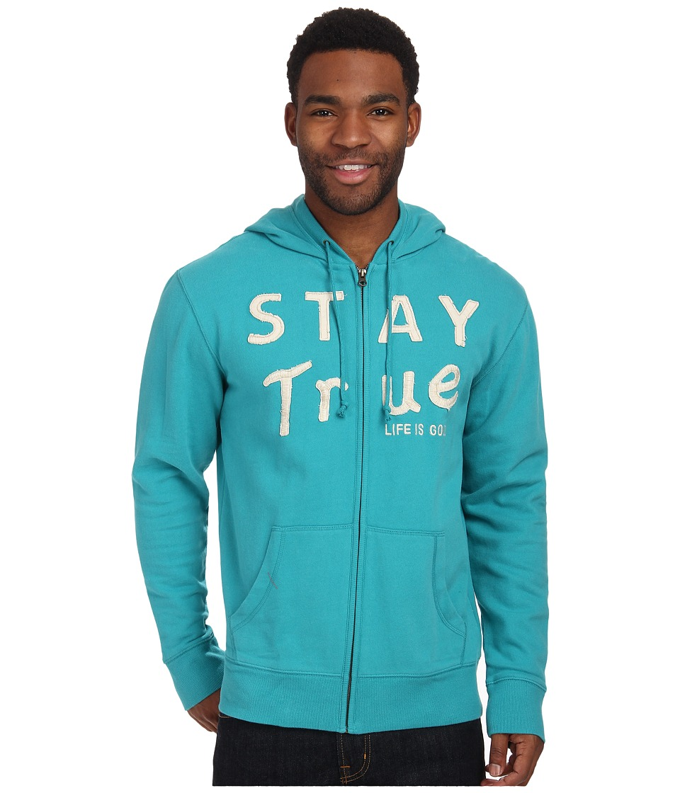 Life is good - All Good Zip Hoodie (Teal Blue) Men