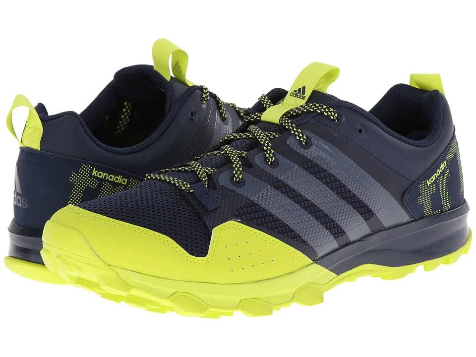 adidas Running - Kanadia TR 7 (Collegiate Navy/White/Semi Solar Yellow) Men's Running Shoes