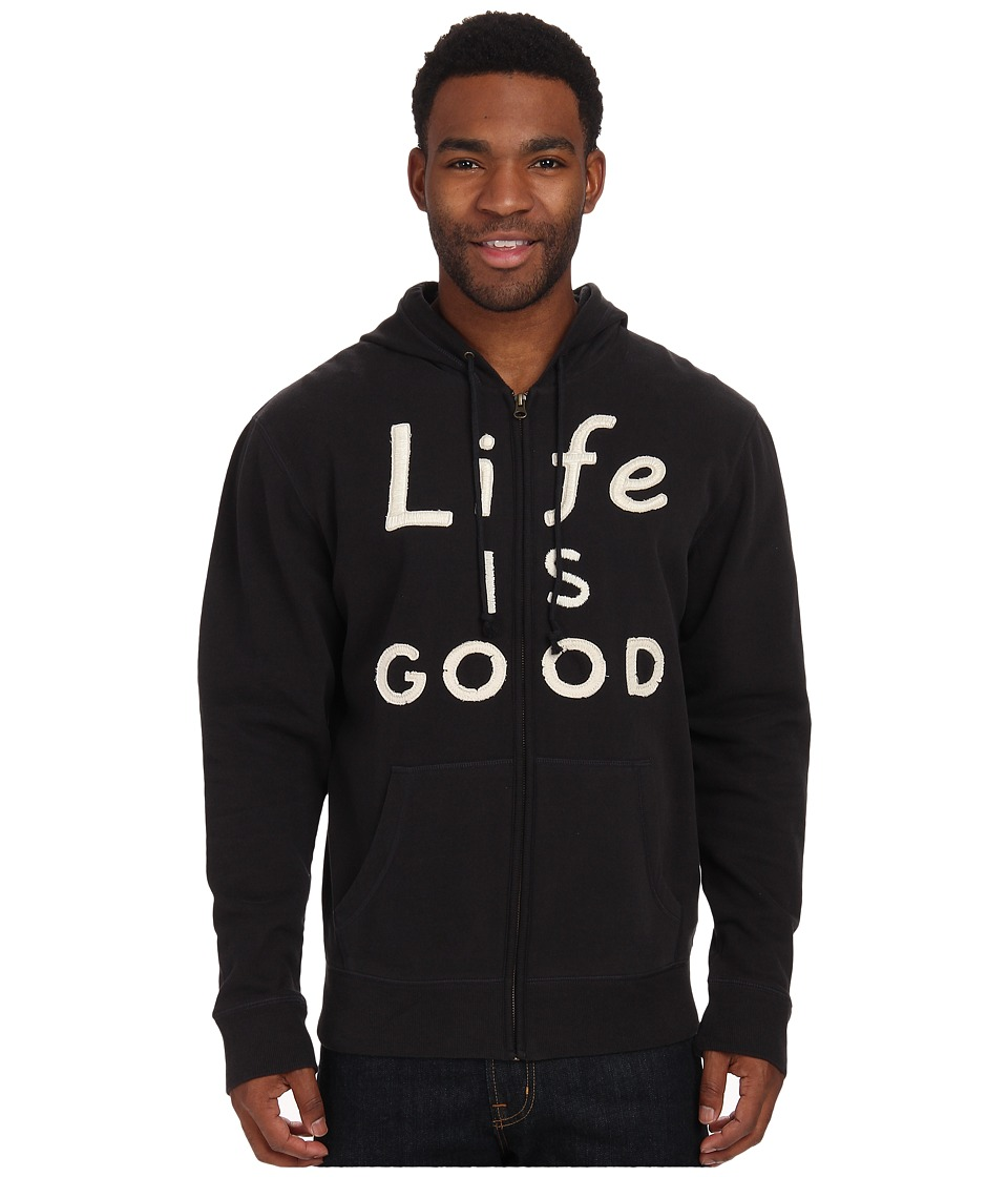 Life is good - All Good Zip Hoodie (Night Black) Men