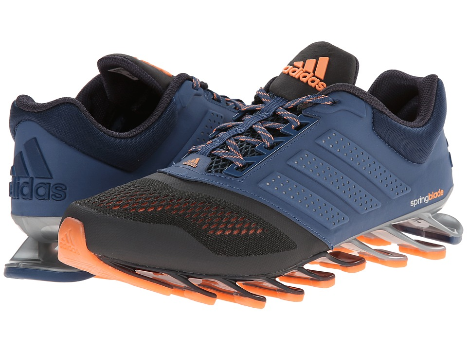 adidas Running - Springblade Split W (DHG Solid Grey/Vista Blue Melange/Flash Orange) Women's Running Shoes