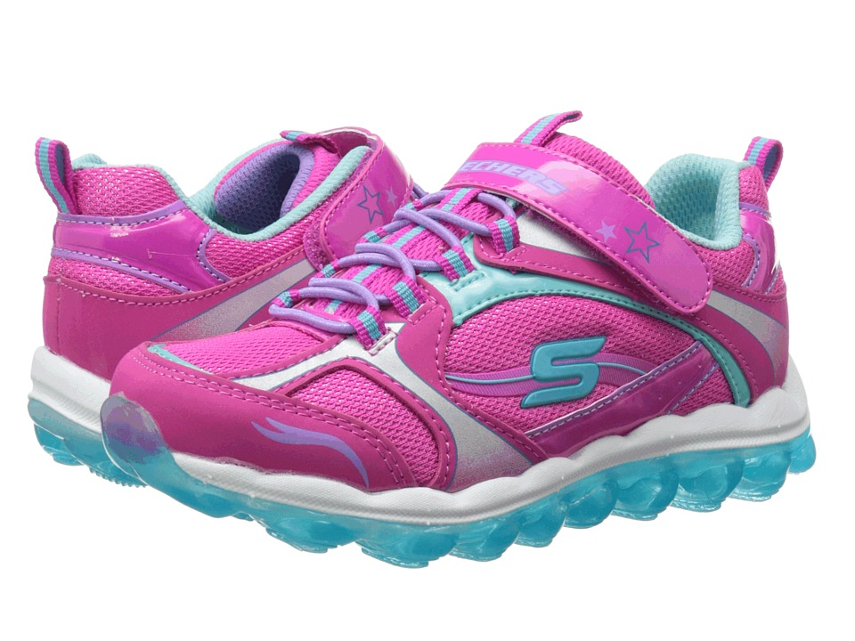 SKECHERS KIDS - SKECH Air 80220L (Little Kid/Big Kid) (Pink/Blue) Girl's Shoes