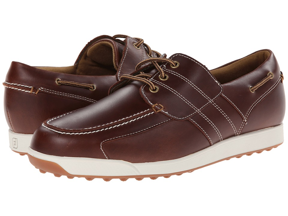 FootJoy - Contour Casual (Brown) Men's Golf Shoes