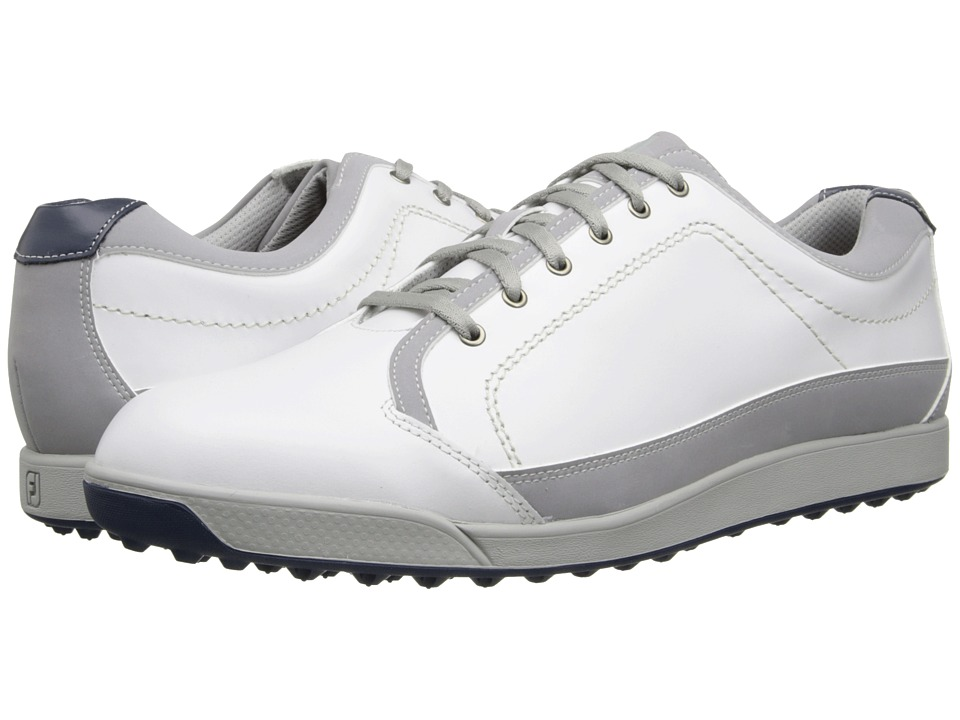 FootJoy - Contour Casual (White/Light Grey) Men's Golf Shoes