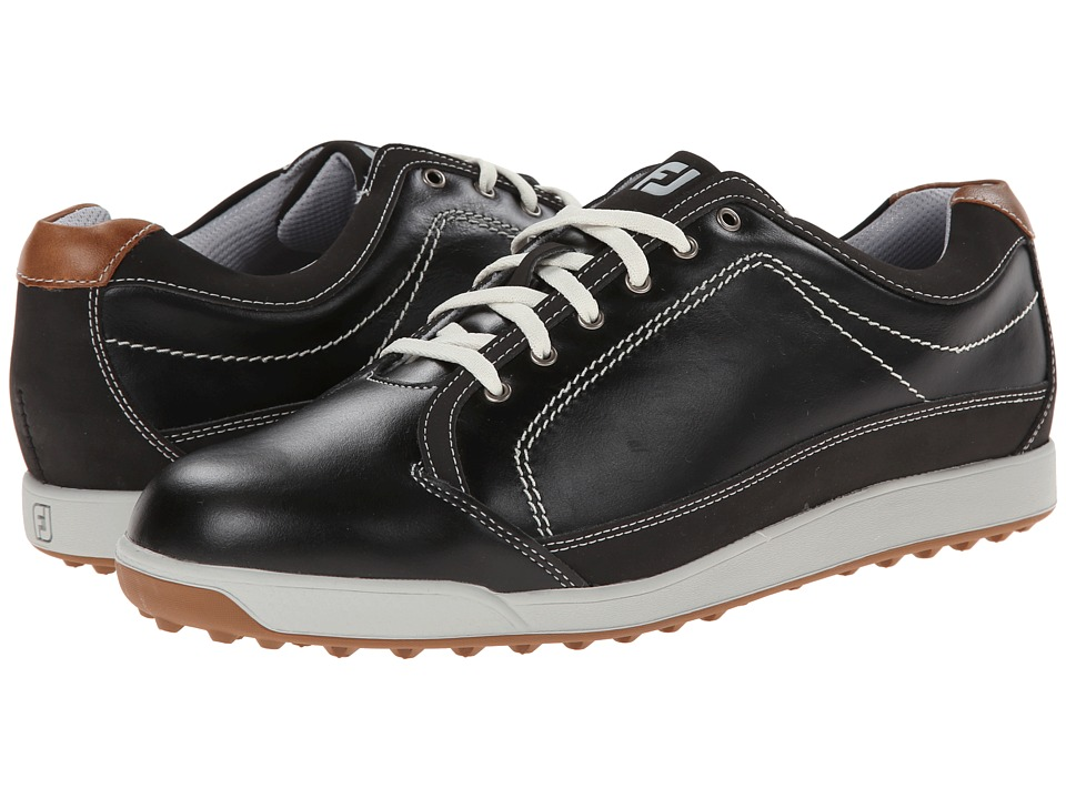 FootJoy - Contour Casual (Black/Taupe) Men's Golf Shoes
