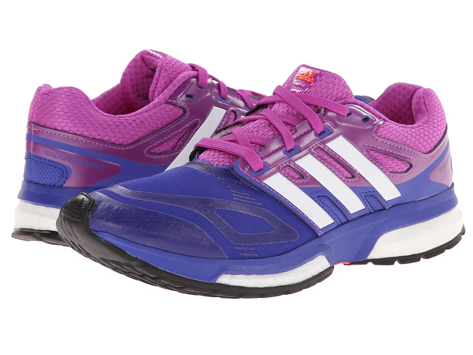 adidas Running - Response Boost Techfit (Night Flash/White/Flash Pink) Women's Running Shoes