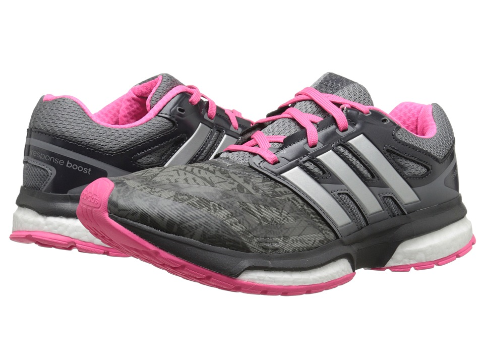 adidas Running - Response Boost Techfit (Vista Grey/Silver Metallic/Solar Pink (Graphic)) Women