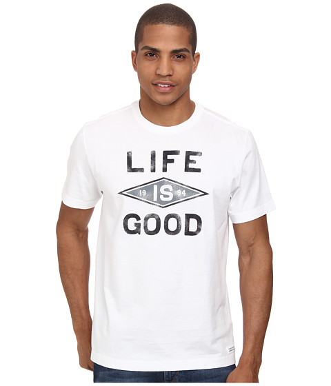 Life is good - Branded Diamond 94 Crusher Tee (Cloud White) Men's T Shirt