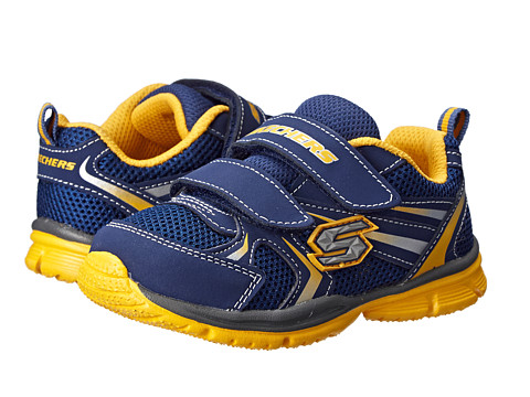 SKECHERS KIDS - Speedees-Burn Outs 95083N (Toddler/Little Kid) (Navy/Gold) Boys Shoes