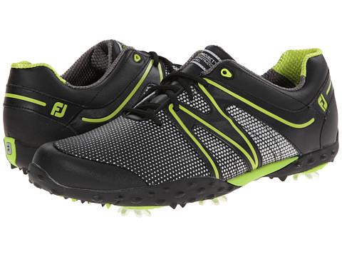 FootJoy - M Project (Black/Lime) Men's Golf Shoes