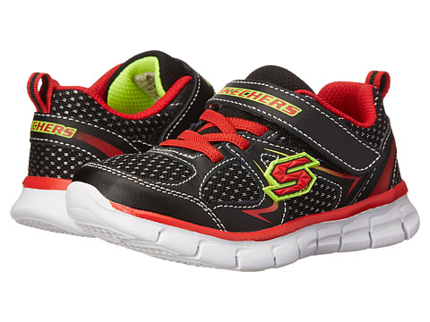 SKECHERS KIDS - Synergy - Mini Dash 95090N (Toddler/Little Kid) (Black/Red) Boy's Shoes