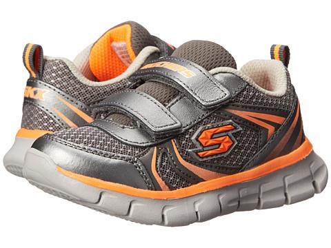 SKECHERS KIDS - Synergy - Mini Sprint 95091N (Toddler/Little Kid) (Gunmetal/Orange) Boy's Shoes