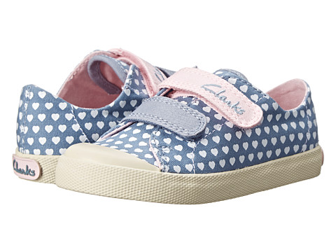 Clarks Kids - Halcy Day (Toddler) (Denim) Girl's Shoes