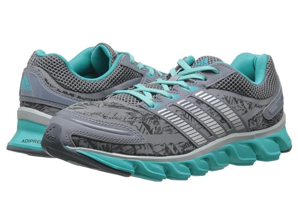 adidas Running - Powerblaze W (Grey/Silver Metallic/Vivid Mint) Women's Running Shoes
