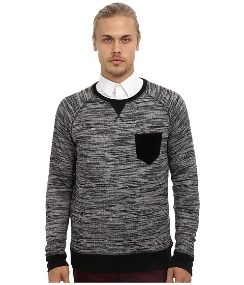 Fresh Brand - Space Dye French Terry Pullover (Grey) Men