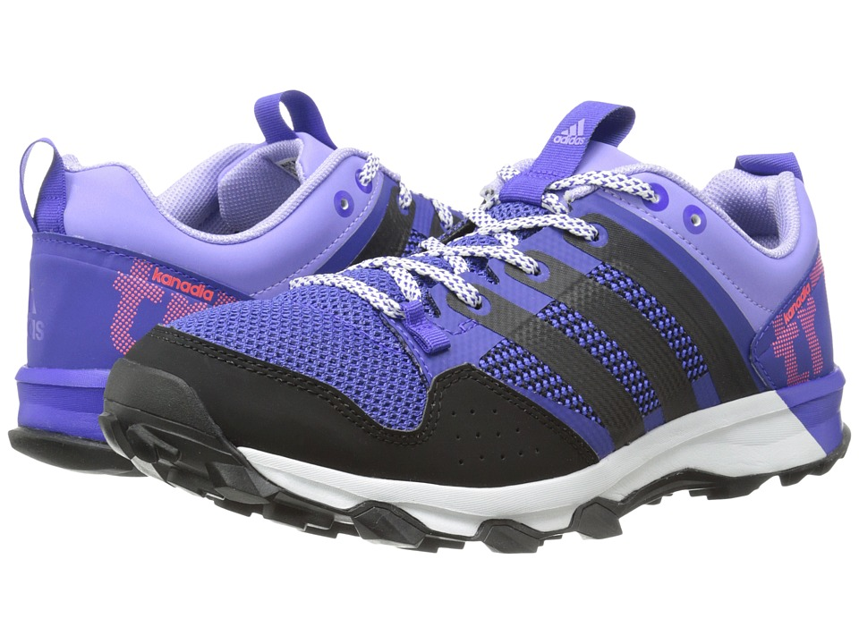 adidas Running - Kanadia TR 7 (Night Flash/Black/Light Flash Purple) Women's Running Shoes