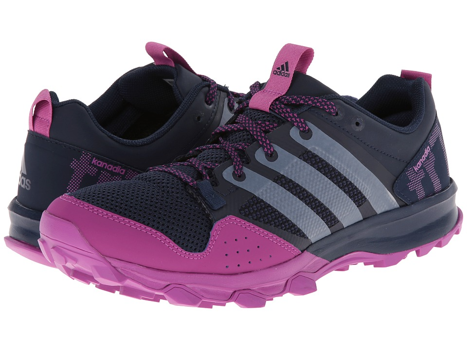 adidas Running - Kanadia TR 7 (Collegiate Navy/White/Lucky Pink) Women's Running Shoes