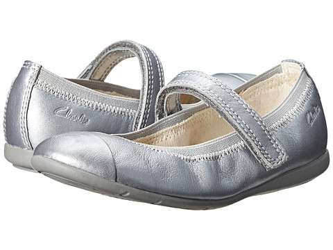 Clarks Kids - Dance Bee (Toddler) (Silver) Girl's Shoes