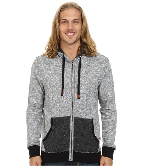 Fresh Brand - Cotton French Terry Zip Up (Grey) Men's Sweatshirt