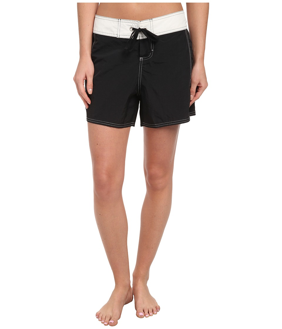 Tommy Bahama - Colorblock Boardshort 5 Cover-Up (Black/White) Women's Swimwear